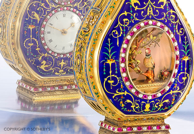 Record sale for Jaquet Droz antique piece at Sotheby's