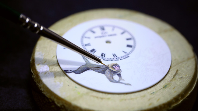 Jaquet Droz, Petite Heure Minute Relief Monkey: J005023281, Painting Workshop