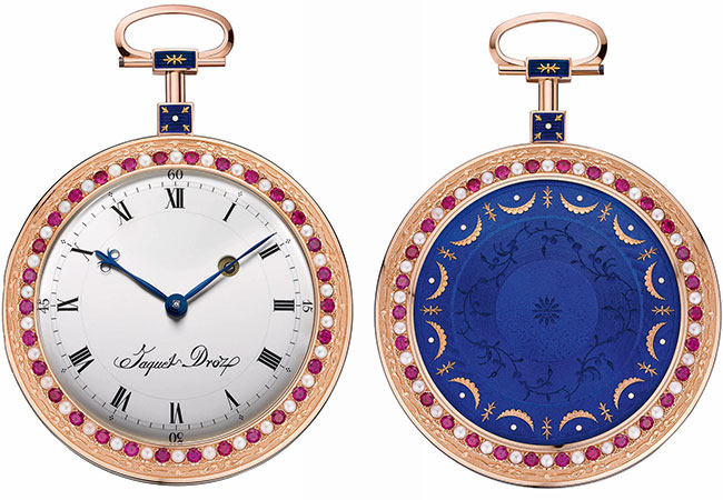 J080033004 THE-POCKET WATCH JAQUET DROZ FRONT AND BACK