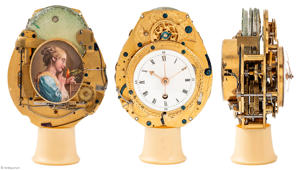 Jaquet Droz, record auction for L Oiseau Privé, Mechanical view