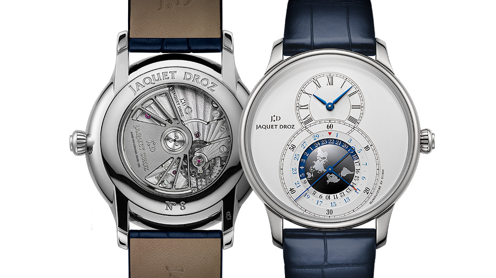 Jaquet Droz, Equire Best Wathes Award, Grande Seconde Dual Time, Front Back