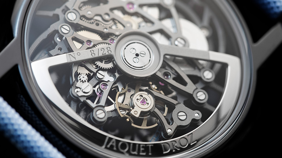 Jaquet Droz, Grande Seconde Sketel-One Ceramic, J003525546, Back Close-Up
