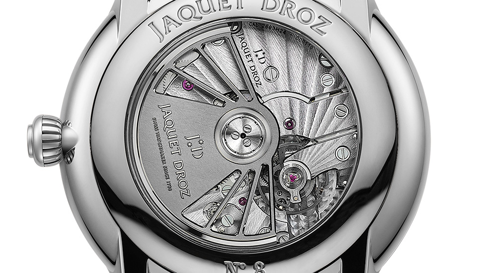 Jaquet Droz, Grande Seconde Dual Time Onyx, J016030271, Movement Close-Up