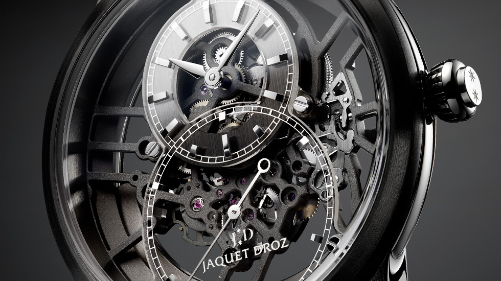 Jaquet Droz, Grande Seconde Skelet-One Ceramic, J003525542, Ambiance Close-Up