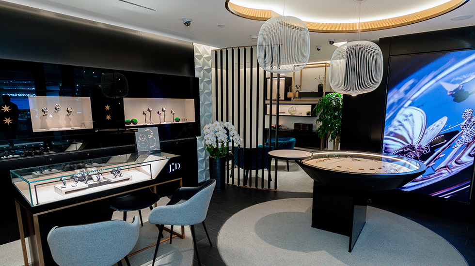 Jaquet Droz, Hong Kong Boutique Opening, Boutique Interior