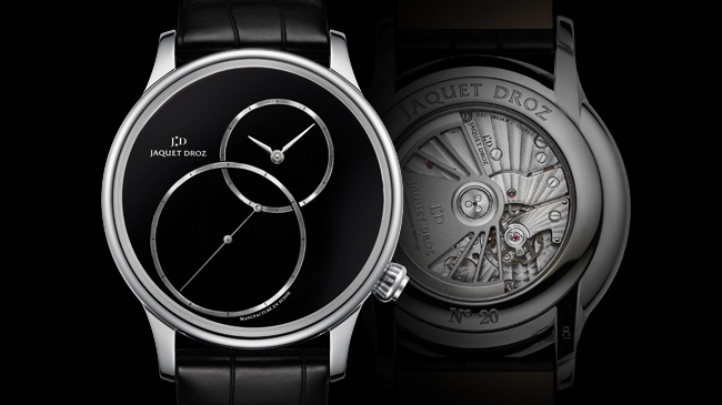 Jaquet Droz, Grande Seconde Off Centered Onyx: J006030270, Front, Back