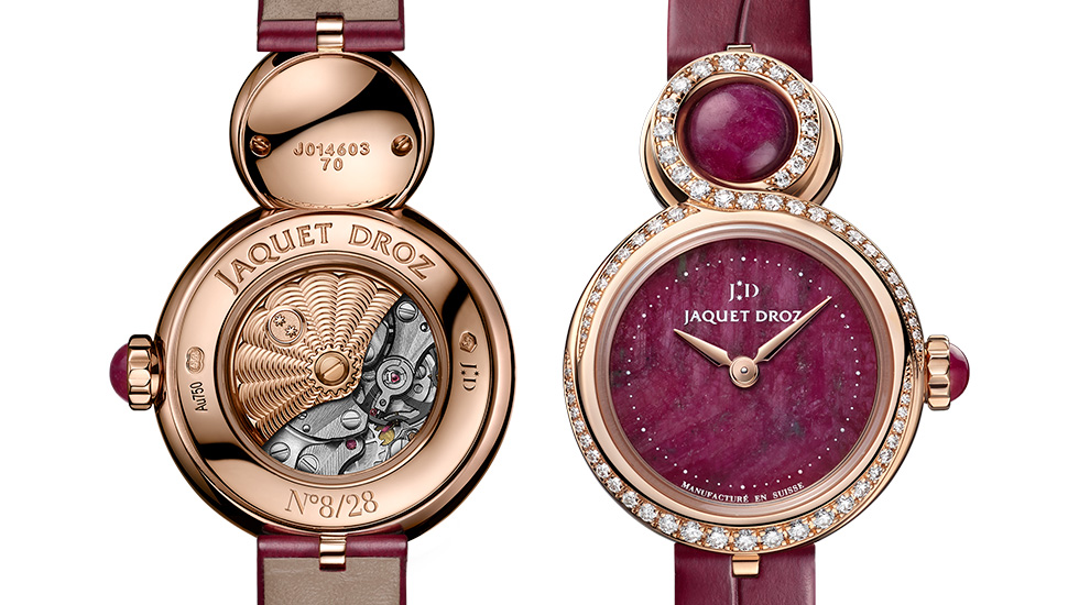 Jaquet Droz, Lady 8 Petite Ruby Hearth, Front Back