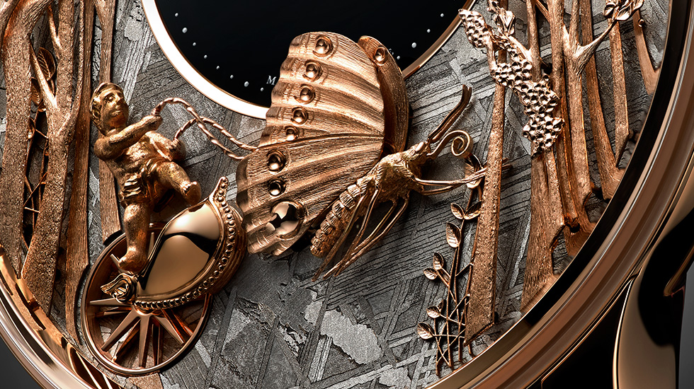 Jaquet Droz, Loving Butterfly Automaton, Close-up, J032533271