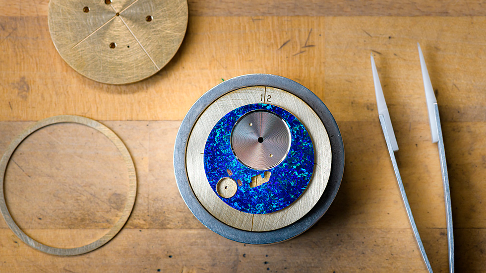 Jaquet Droz, Mineral Workshop, Finished Opal Dial