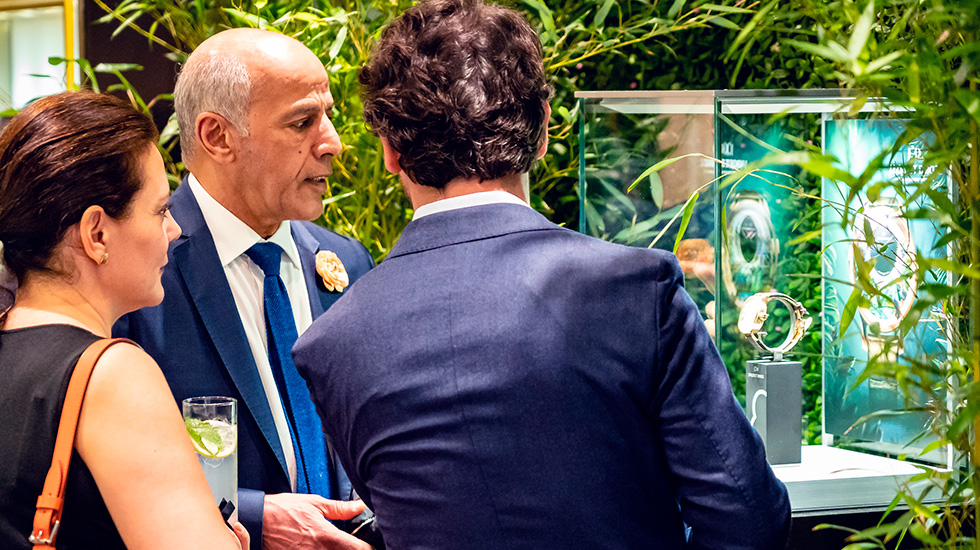 Jaquet Droz, 2019 Novelties Presentation, New York, Guests discussing the Pieces