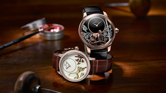 Jaquet Droz, Petite Heure Minute Monkey, Ambiance