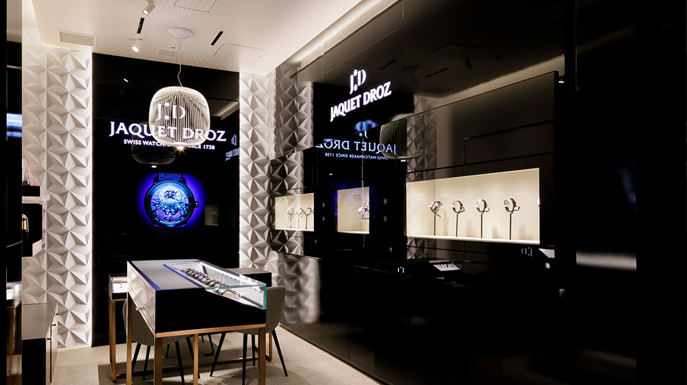 Jaquet Droz, Shop in Shop at Daimaru Shinsaibashi Main building, Osaka, Right View