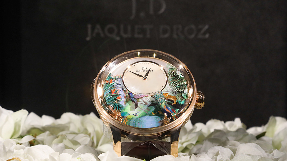 Jaquet Droz, Tropical Bird Repeater Event, Beijing, Close Up