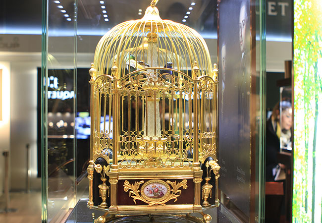 JAQUET DROZ LAS VEGAS EXHIBITION BIRD CAGE