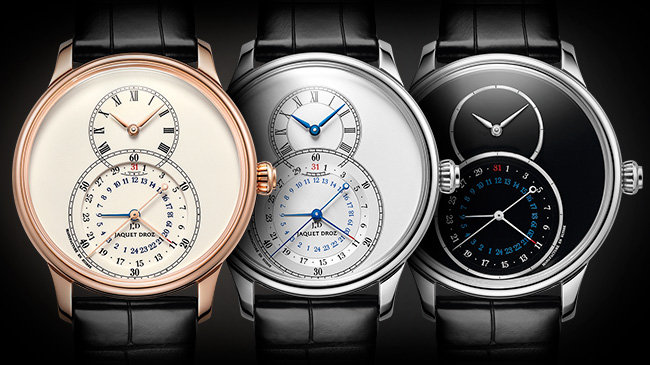 Jaquet Droz, J016033200, J016030270, J016030240, Grande Seconde Dual Time Trio