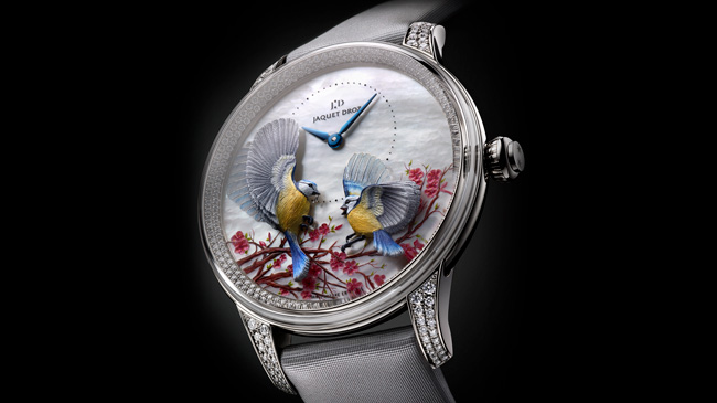 Jaquet Droz, Baselworld 2017 Novelties, J005024576, Petite Heure Minute Relief Seasons Spring, Ambiance