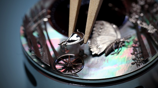 Jaquet Droz, Baselworld 2017 Novelties, J032533270, Loving Butterfly Automaton, Workshop