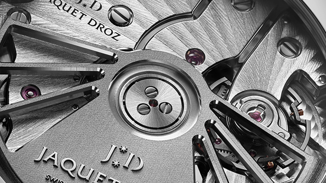 Jaquet Droz, Grande Seconde Quantième Satin-Brushed Anthracite, J007030248, Back Close Up