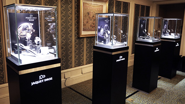 Jaquet Droz, Culture Lecture at Beijing, Timepieces Exhibition Showcases