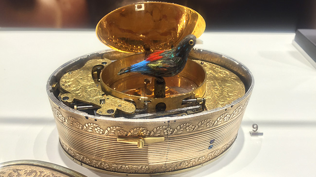 Jaquet Droz, Exibition JaquetDroz at Les Ambassadeurs Zurich, Antique Piece, Singing Bird