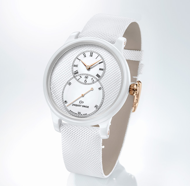 Jaquet Droz, Grande Seconde White Ceramic Clous De Paris, J003036540, Ambiance