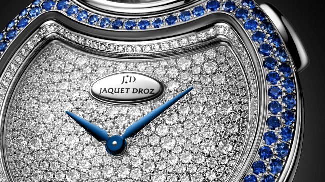 Jaquet Droz, Lady 8 Flower, J032004221, Close-Up, Automaton