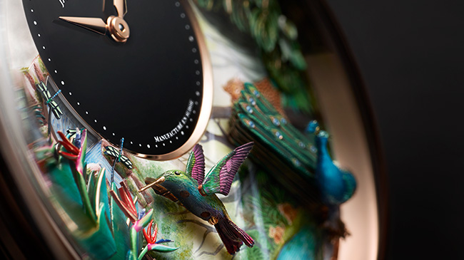 Jaquet Droz, Tropical Bird Repeater, J033033200, Close-Up