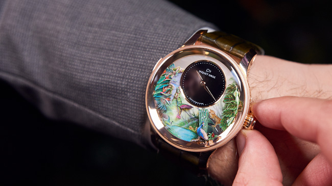 Jaquet Droz, Tropical Bird Repeater Geneva Event, J033033200, Watch On Wrist