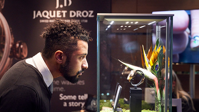 Jaquet Droz, Tropical Bird Repeater Geneva Event, J033033200, People watching Showcase