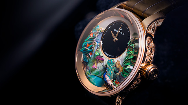 Jaquet Droz, Tropical Bird Repeater Geneva Tokyo, J033033200, Guests on painting Workshop