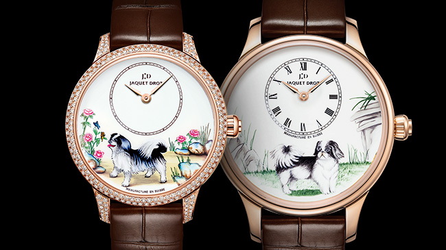 Jaquet Droz, Chinese New Year, J005013219, J005003223, Petite Heure Minute Dog, Painting, Duo Front