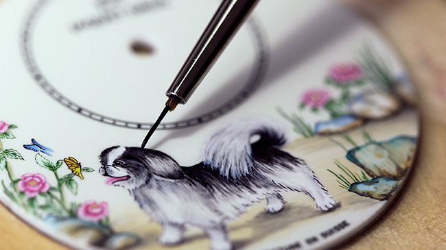 Jaquet Droz, Chinese New Year, J005003223, Petite Heure Minute Dog, Painting Workshop