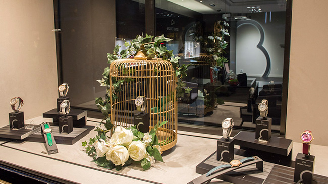 Jaquet Droz, Spring Celebration, Paris, Setup