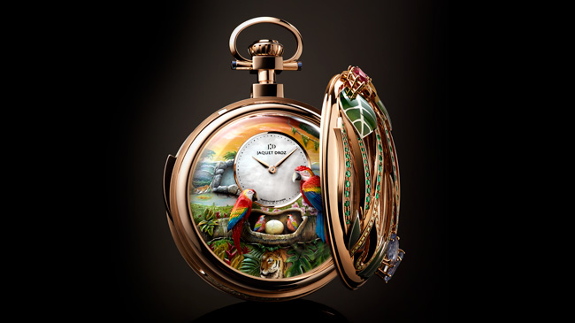 Jaquet Droz, Baselworld 2018 Novelties, Parrot Repeater Pocket Watch, Ambiance
