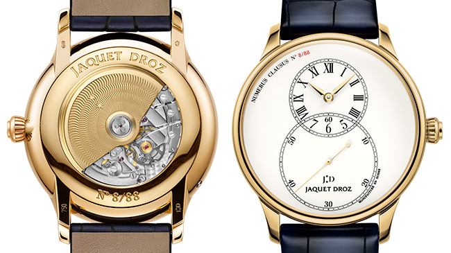 Jaquet Droz, Grande Seconde Tribute, Front and Back