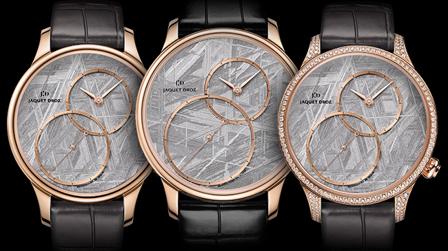 Jaquet Droz, Grande Seconde Off-Centred Meteorite,J006013270, J006013271