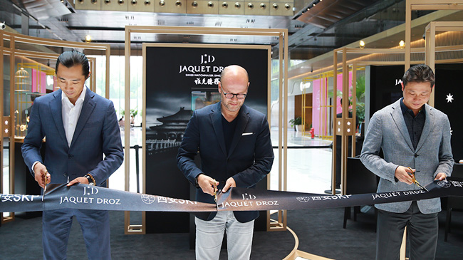 Jaquet Droz, Boutique opening, Xi'An, China, Ribon cutting