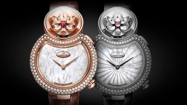 Jaquet Droz, J032003270 and J032004270, Lady 8 Flower, Front