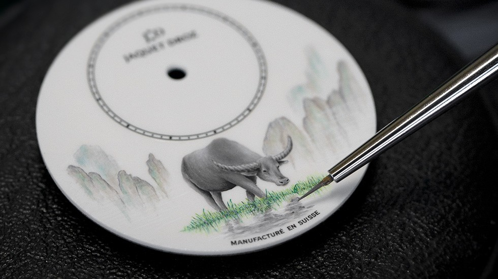 Jaquet Droz, Petite Heure Minute Buffalo, J005003228, Painting Workshop