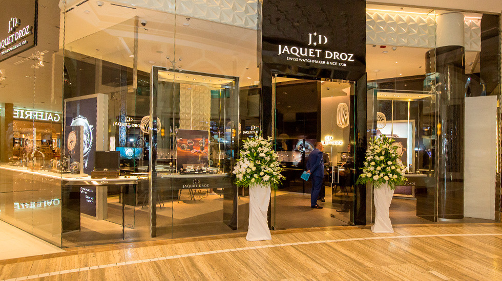 Jaquet Droz, 2019 Novelties Presentation Dubai, Boutique Front