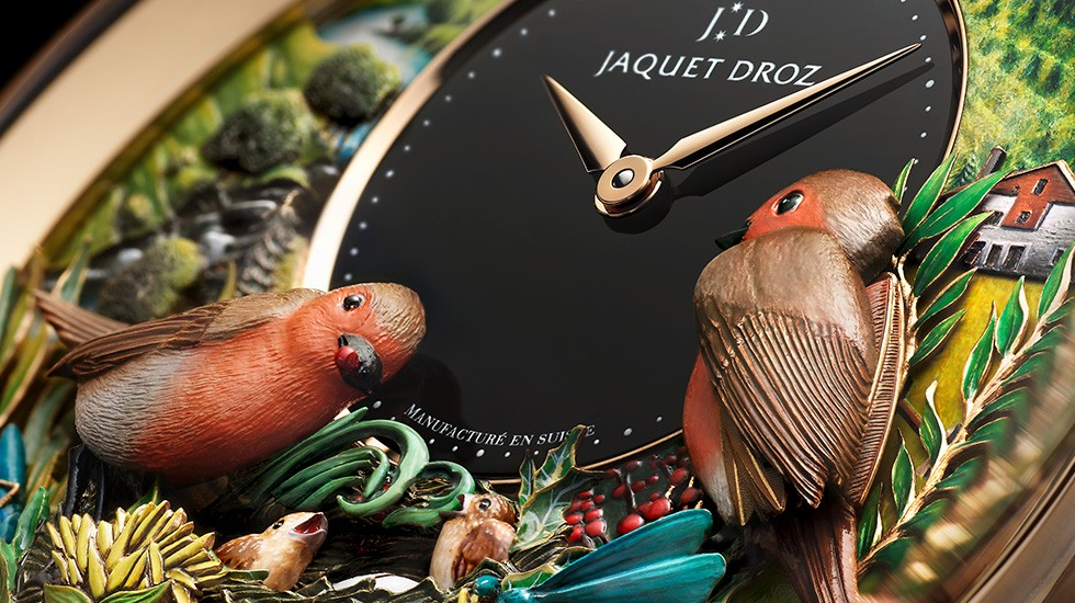 Jaquet Droz, Bird Repeater 300th Anniversary Edition, J031033211, Close-Up Bottom Right