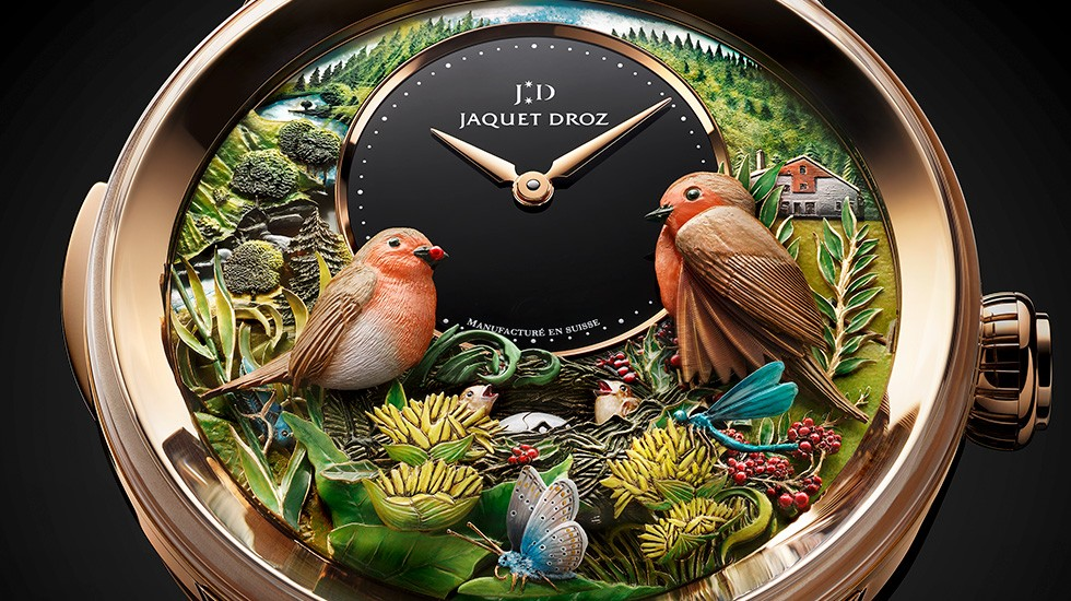 Jaquet Droz, Bird Repeater 300th Anniversary Edition, J031033211, Close-Up Front