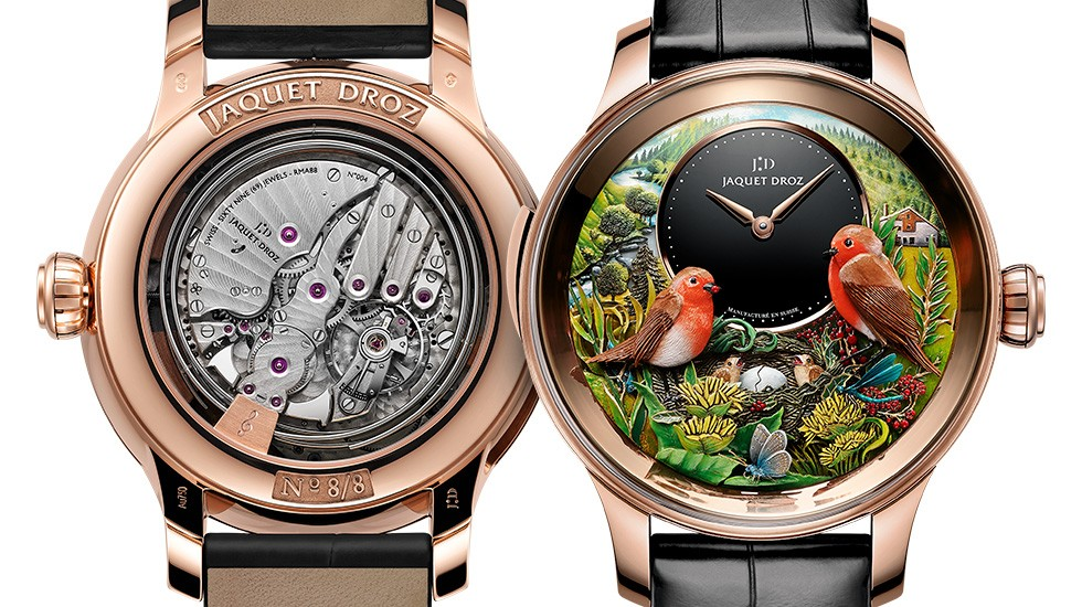 Jaquet Droz, Bird Repeater 300th Anniversary Edition, J031033211, Front Back