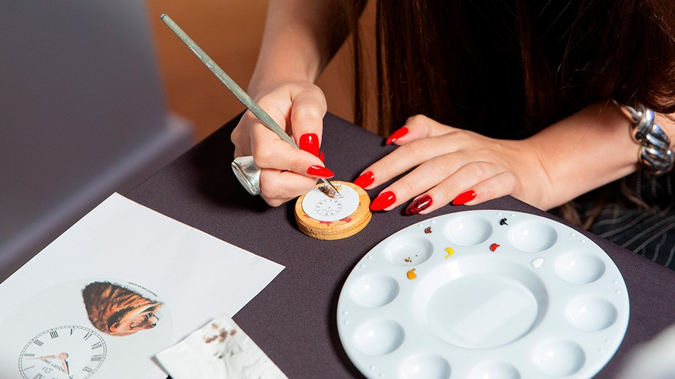 Jaquet Droz, collaboration with Italdizain, Azerbaijan, Guests Painting Workshop Close-Up