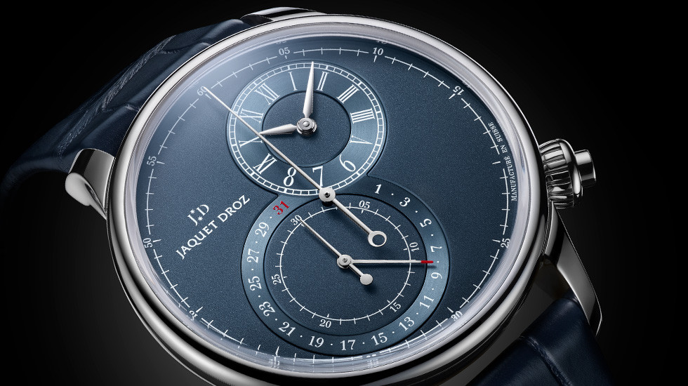 Jaquet-Droz, Grande Seconde Chronograph Off-Centered Blue, J007830241, Ambiance Close-Up