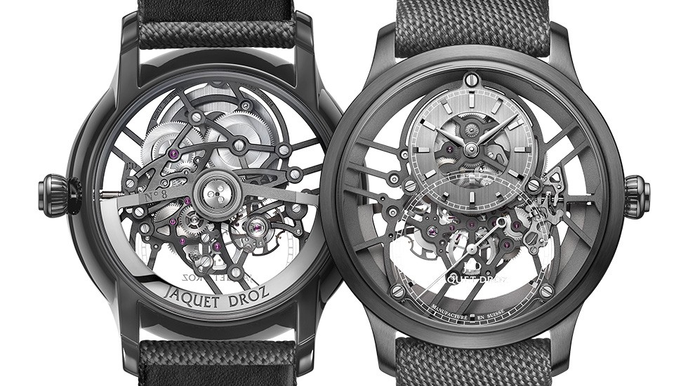 Jaquet Droz, Grande Seconde Skelet-One Ceramic, J003525542, Front Back
