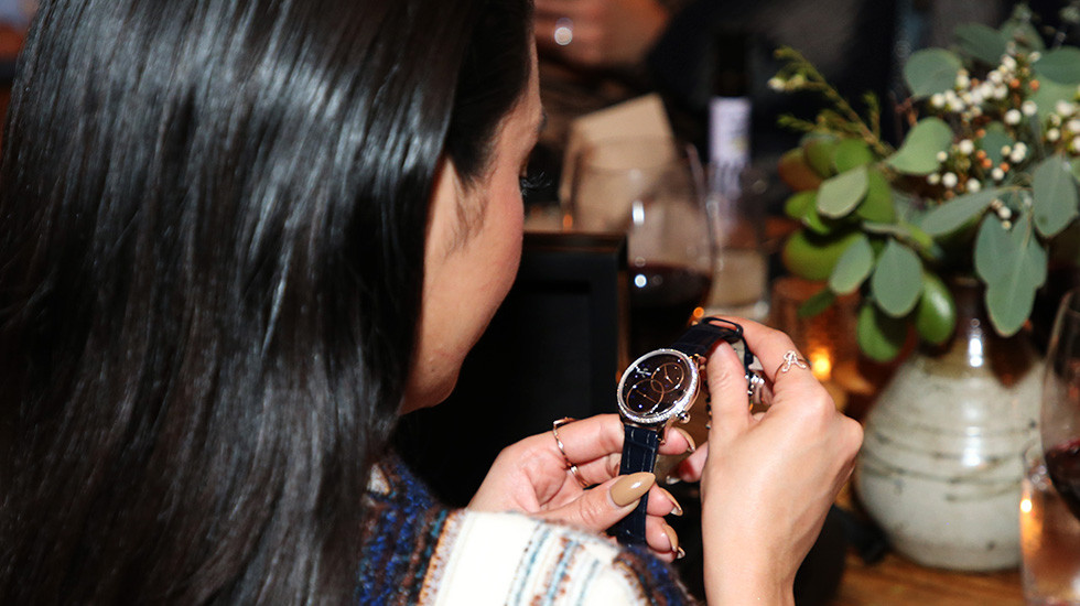 Jaquet Droz, Haute Living, Vanessa Hudgens, Grande Seconde Off-Centered Aventurine