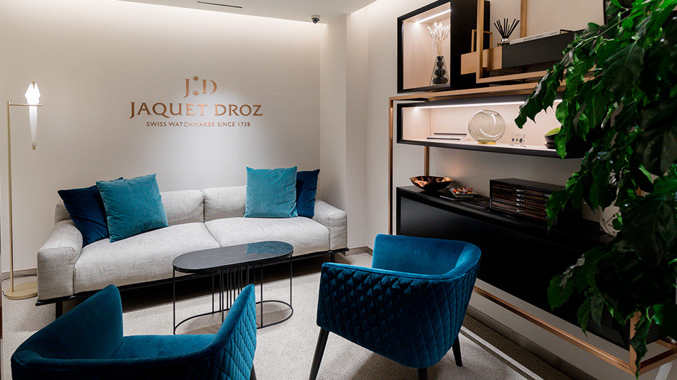 Jaquet Droz, Hong Kong Opening, Interior Lounge view