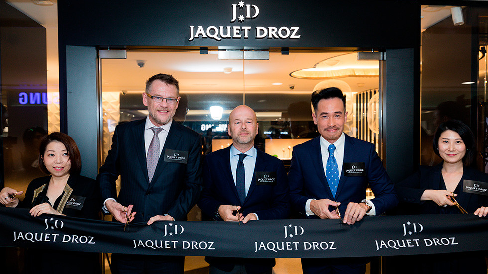 Jaquet Droz, Hong Kong Boutique Opening, Ribbon Cutting with Moses Chan