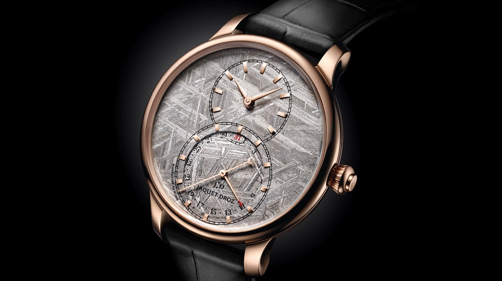 JAQUET DROZ COMBINES THE ART OF WATCHMAKING WITH THE UNIVERSE'S INFINITY雅克德罗(JAQUET DROZ)将钟表工艺与无垠宇宙浑然融合